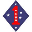 1st Marine Division Vietnam Decal