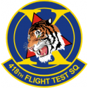 418th FTS Decal