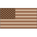 50 Star Flag Desert Camo Decal