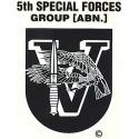 """Special Forces 5th Group  """"V"""" (Afghanistan) Decal"""