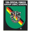 Special Forces 10th Group Europe Decal