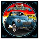 1941 S.W.C. Willys Gasser satin metal sign 12 inch by 12 inch.