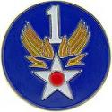 Army Air Corps WWII 1st Air Force Pin
