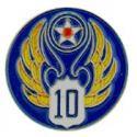Army Air Corps WWII 10th Air Force CIB Pin