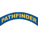 Pathfinder Tab Decal  (Blue on Gold)