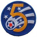 5th Air Force Patch WWII