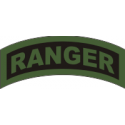 Ranger Tab Decal  (OD on Black)