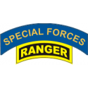 Special Forces and Ranger Tab Decal