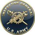 """Army Inspector General Insignia All Metal Sign.  14"""" Round"""