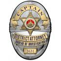Los Angeles Country District Attorney Investigator (Captain) Metal Sign Badge wi
