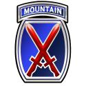 10th Mountain Division (Airborne) Metal Sign  11 x 16""
