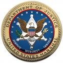 "US Marshal SEAL All Metal Sign 14"" Round"