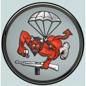 "508th Airborne Parachute Infantry (Devil) Metal Sign  14"" Round"
