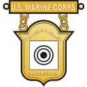 USMC Distinguished Marksman Badge  Decal