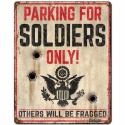 ARMY PARKING metal sign