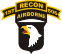 101st Airborne Recon 506 Decal