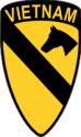 1st Cavalry - Vietnam  Decal