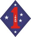 1st Marine Division Iraq Decal