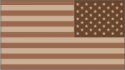 50 Star Flag Desert Camo (Reversed) Decal
