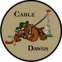 543rd Support Squadron Cable Dawgs Decal