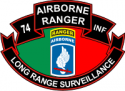 74th ABN Rangers LRS Decal