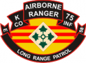 75th ABN Rangers K Company 4th ID LRP Decal