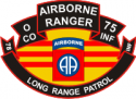 75th ABN Rangers O Company 82nd ABN Div LRP Decal