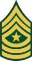 Army E-9 SGM Sergeant Major