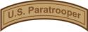 U.S. Paratrooper Tab  Decal