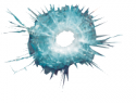 Bullet Hole in Glass Decal
