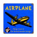 Kids Airplane Metal Sign