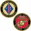 1st Marine  Division Challenge Coin