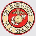 My Daughter is A Marine with Eagle Globe and Anchor Logo Decal