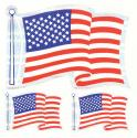 American Flag 3 Piece Prism Decals