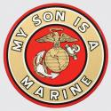 My Son is A Marine with Eagle Globe and Anchor Logo Decal