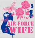 Air Force Wife Toughest Job in the Air Force Decal
