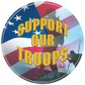 SUPPORT OUR TROOPS ROUND DECAL