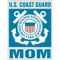 Coast Guard Mom Bold Type Decal