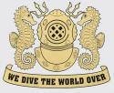Navy Diver Helmet Gold Decal