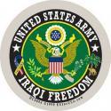 US Army Crest Iraqi Freedom Decal
