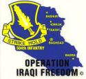 Army 504th Parachute Infantry Iraqi Freedom Airborne Decal