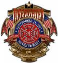 Firefighter Never Forget All Medal Sign