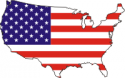 Flag - US Map  Decal