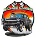 3-D BAD ASS GASSER Metal Sign