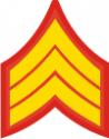 E-4 SGT Sergeant Pre-1959 (Gold)  Decal