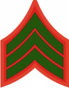 E-4 SGT Sergeant Pre-1959 (Green)  Decal