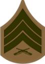 E-5 SGT Sergeant (Khaki) Decal