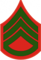 E-5 SSGT Staff Sergeant Pre-1959 (Green)  Decal