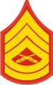 E-7 GYSGT Gunnery Sergeant (Gold) Decal