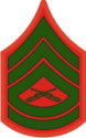 E-7 GYSGT Gunnery Sergeant (Green) Decal
